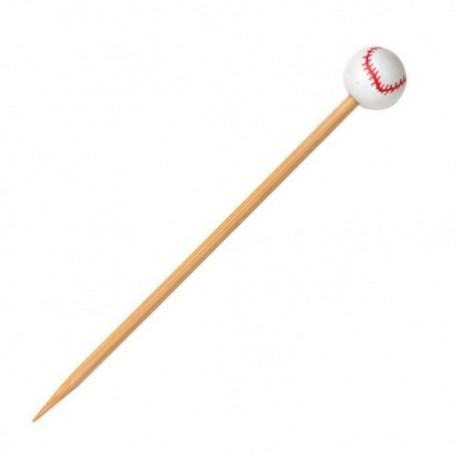 Pincho bambú béisbol 12cm c.1000