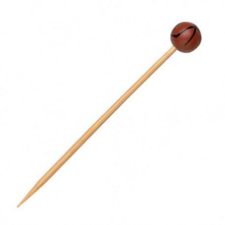 Pincho bambú baloncesto 12cm c.1000
