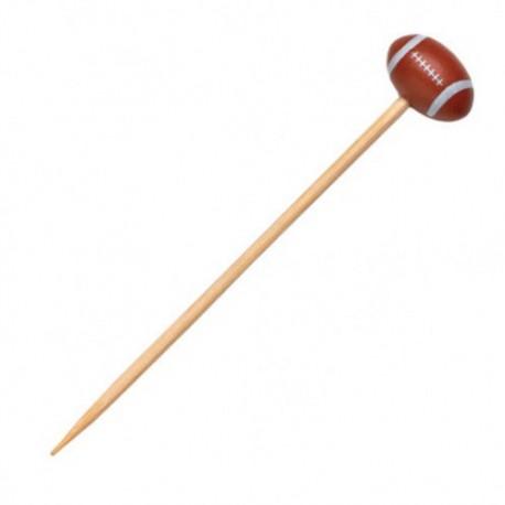 Pincho bambú rugby 12cm c.1000