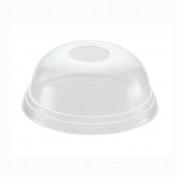 Tapa PET cúpula c/agujero p.100