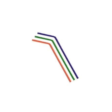 Caña flexible colores 5x210 mm p.10x100