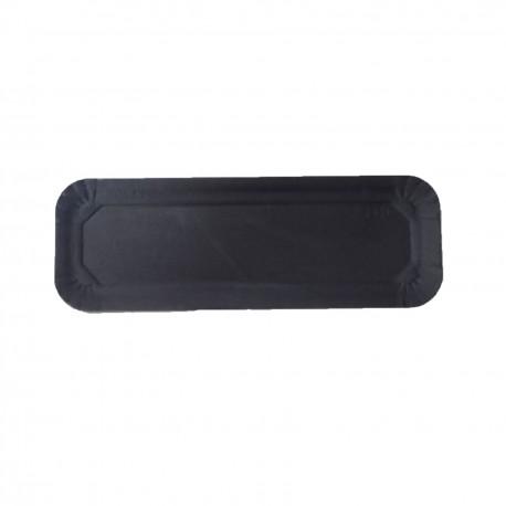 Bandeja tronco laminada negra 11,5x35 p.100