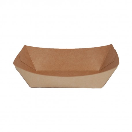 Barquilla cartón kraft 120x75x50 c.500