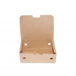 Caja take away 9 kraft 135x85x51 c.500