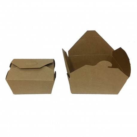 Estuche take away kraft 112x90x65 c.300
