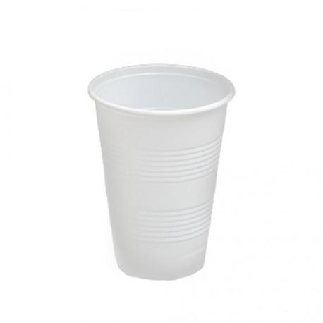 Vaso blanco 160ml irromp. PP p.100
