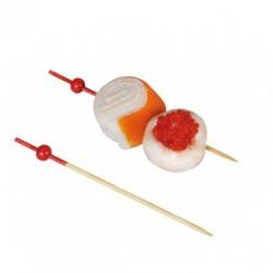 Pinxo bambú bola verm. final vermell 9cm c.2000