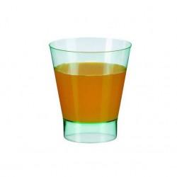 Vaso redondo verde transparente 180ml c.200