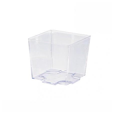 Vaso plástico cúbico 50x50x45 c.576
