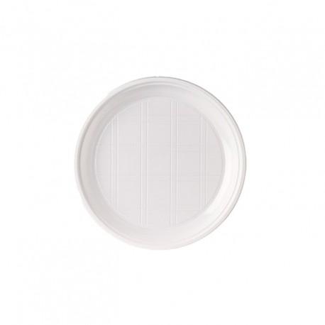 Plat plàstic blanc 22cm p.50