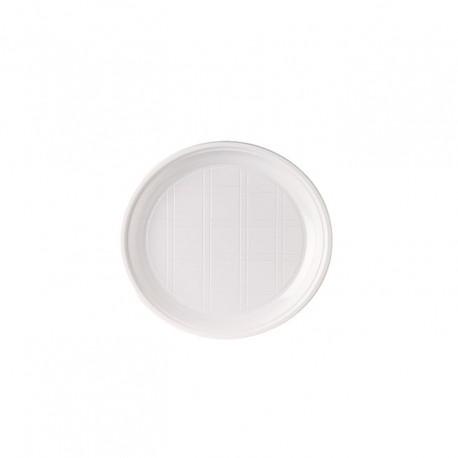 Plat plàstic blanc 17cm p.50