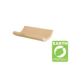 Plato Yaki bambú rectangular-curvo 10x7cm c.200