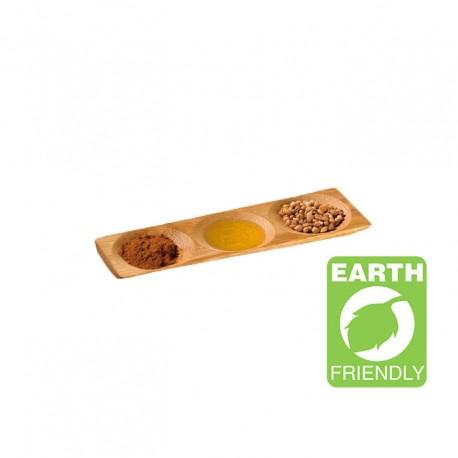 Plato bambú 3 compartimentos 18x6x1cm c.96