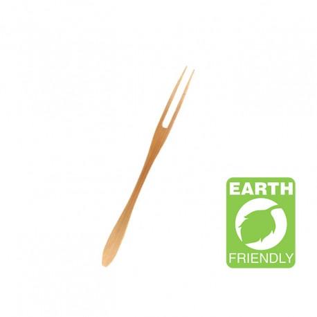 Tenedor plano bambú 16,5cm c.500