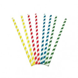 Caña de papel colores 8x230 mm p.100