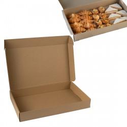 Caja cátering kraft 30x50x7cm c.25